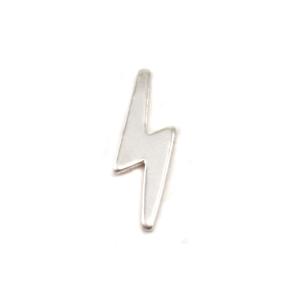 Charms & Solderable Accents Sterling Silver Lightning Solderable Accent, 24g - Pack of 5